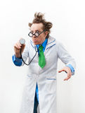 Crazy doctor Stock Images