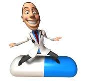 Crazy doctor vector illustration