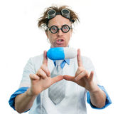 Crazy doctor Royalty Free Stock Photo