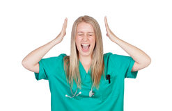 Crazy doctor shouting Stock Photography