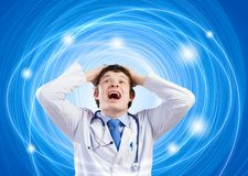 Crazy doctor Royalty Free Stock Images