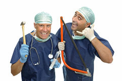 Crazy doctors Royalty Free Stock Photos