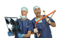 Crazy doctors royalty free stock image