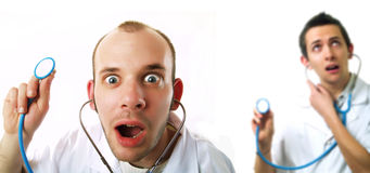 Crazy doctors' invasion Royalty Free Stock Photography