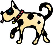 Crazy dog. Crazy isolated dog. vector image Royalty Free Stock Photography