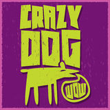 Crazy Dog - vector funny illustration Royalty Free Stock Photos