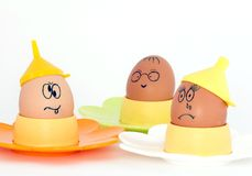 Crazy Eggs Stock Photography