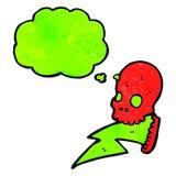 crazy electric skull cartoon Stock Photography