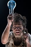 Crazy electrician Stock Photos
