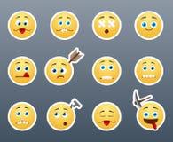 Crazy emoticons Stock Photo