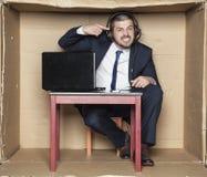 Crazy employee customer service Stock Photography