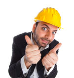 Crazy engineer Stock Photography