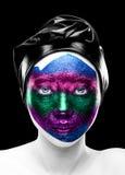Crazy face makeup Royalty Free Stock Photos