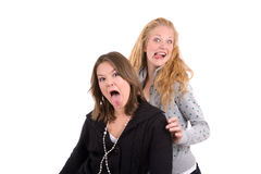 Crazy faces Royalty Free Stock Photo