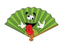 Crazy fan cartoon Royalty Free Stock Image