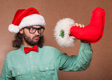 Crazy fashion santa claus Royalty Free Stock Photography