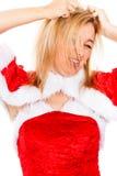 Crazy female Santa Royalty Free Stock Images