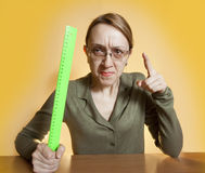 Crazy female teacher Royalty Free Stock Image