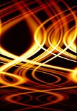 Crazy Fire. Abstract crazy fire or flame on black background Royalty Free Stock Image