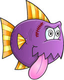 Crazy Fish Vector. Purple Crazy Fish Vector Illustration Art Stock Photo