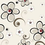 Crazy floral pattern Royalty Free Stock Image