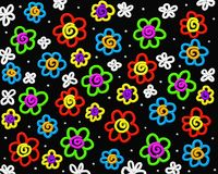 Crazy flowers vector illustration
