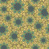 Crazy flowers pattern Royalty Free Stock Image
