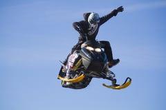 Crazy Flying sportsman Royalty Free Stock Photo