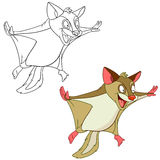 Crazy flying squirrel Stock Image