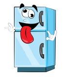 Crazy fridge cartoon Royalty Free Stock Images