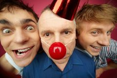 Crazy friends stock photography