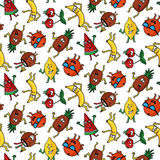 Crazy fruit pattern Royalty Free Stock Photo
