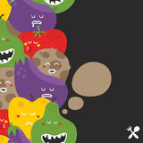 Crazy fruits and vegetables seamless pattern. Royalty Free Stock Photography