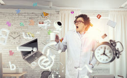 Crazy funny doctor Royalty Free Stock Photo