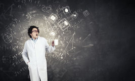 Crazy funny doctor Stock Photo