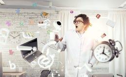 Crazy funny doctor Stock Photos
