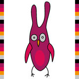 Crazy funny owl hand drawn Royalty Free Stock Image