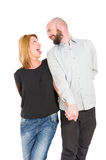 Crazy and funny young couple in love Royalty Free Stock Images