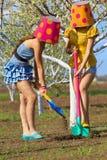 Crazy gardeners Stock Images