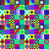 Crazy Geometric Squares Stock Photos