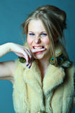 Crazy girl Royalty Free Stock Photography