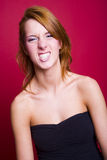 Crazy girl Stock Image
