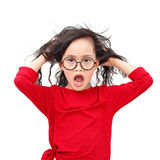 Crazy girl Royalty Free Stock Image