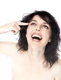 Crazy girl with big smile Royalty Free Stock Photography