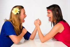 Crazy girls Royalty Free Stock Image