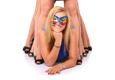 Crazy girls Royalty Free Stock Photography