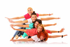 Crazy girls Stock Images