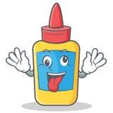 Crazy- Glueflaschencharakterkarikatur Stockfotografie
