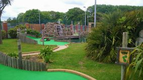 Crazy Golf Madness. Went on holiday in Norfolk and fancied a spot of crazy golf Royalty Free Stock Photos