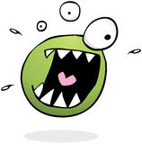 Crazy Green Monster Thing Stock Images